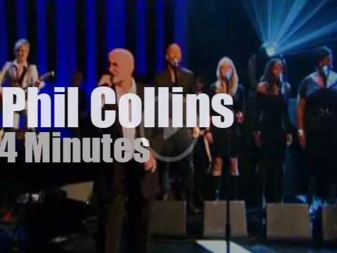 On TV today, Phil Collins covers Stevie Wonder (2010)
