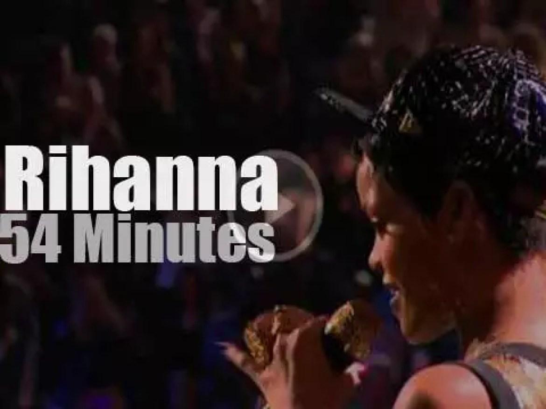 Rihanna attends 'iHeartRadio Festival' Day 1 (2012)