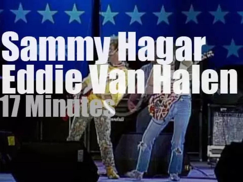 Sammy Hagar invites Eddie Van Halen to  'Farm Aid' (1985)
