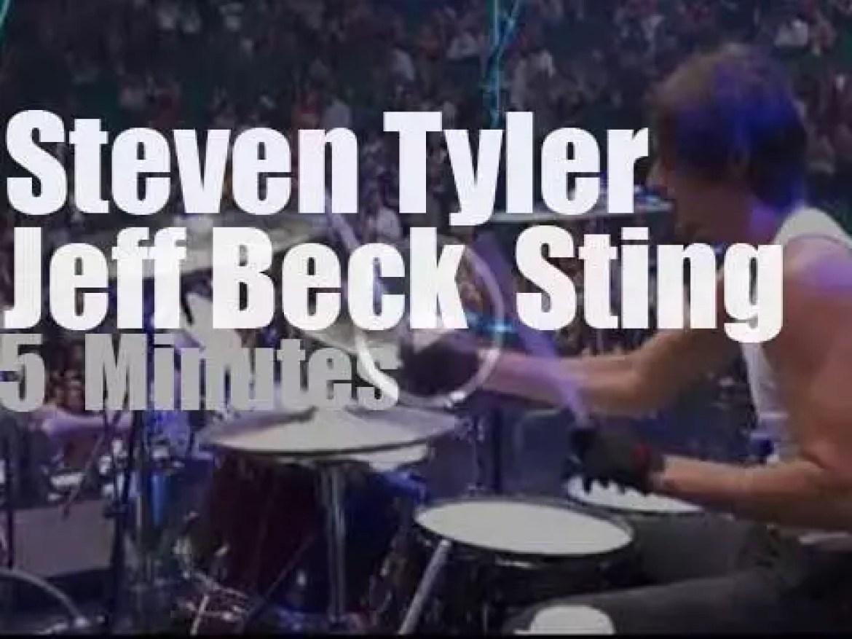 Steven Tyler, Jeff Beck & Sting meet in Vegas (2011)