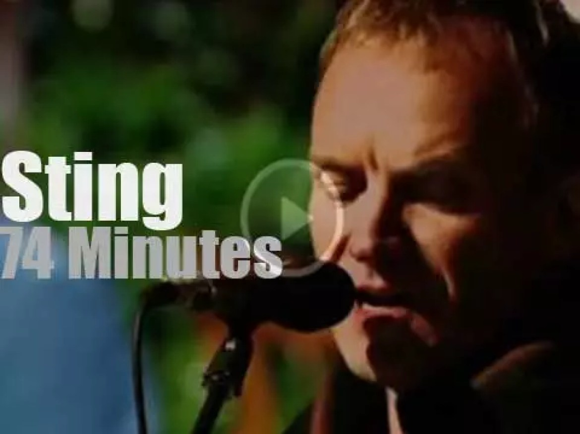 Sting records a private concert in Tuscany (2001)