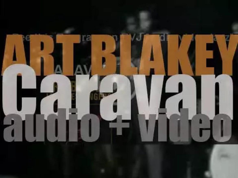 Art Blakey records 'Caravan,' an album with the Jazz Messengers (1962)