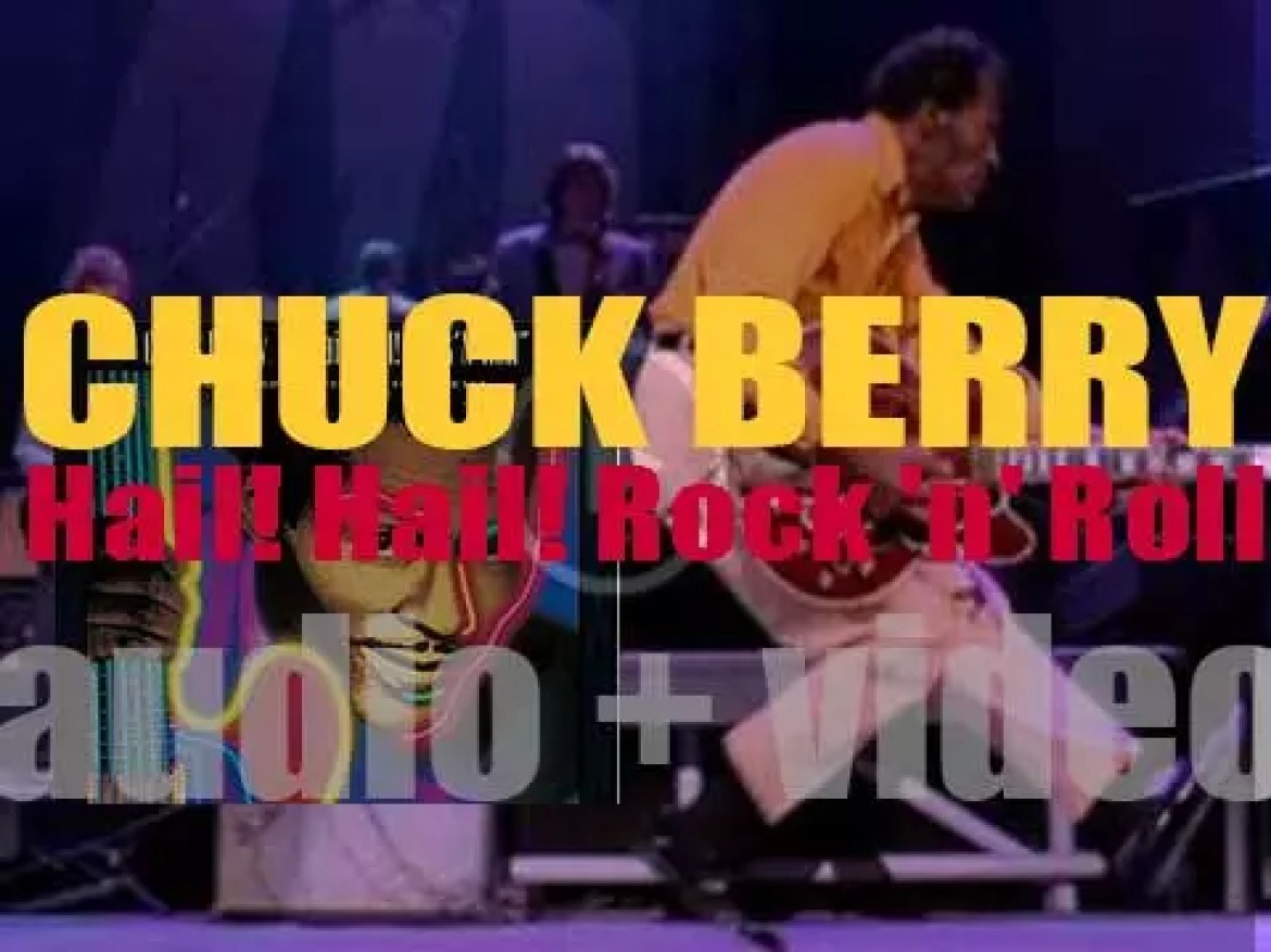 Chuck Berry records 'Hail! Hail! Rock 'n' Roll,' a live album with Keith Richards, Eric Clapton, Robert Cray, Etta James and more (1986)