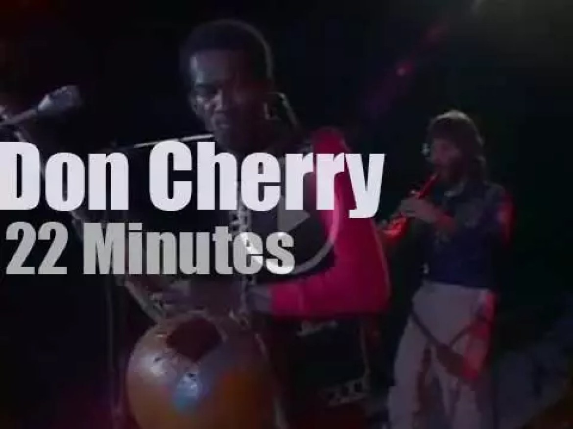 On TV today, Don Cherry in Paris (1979)