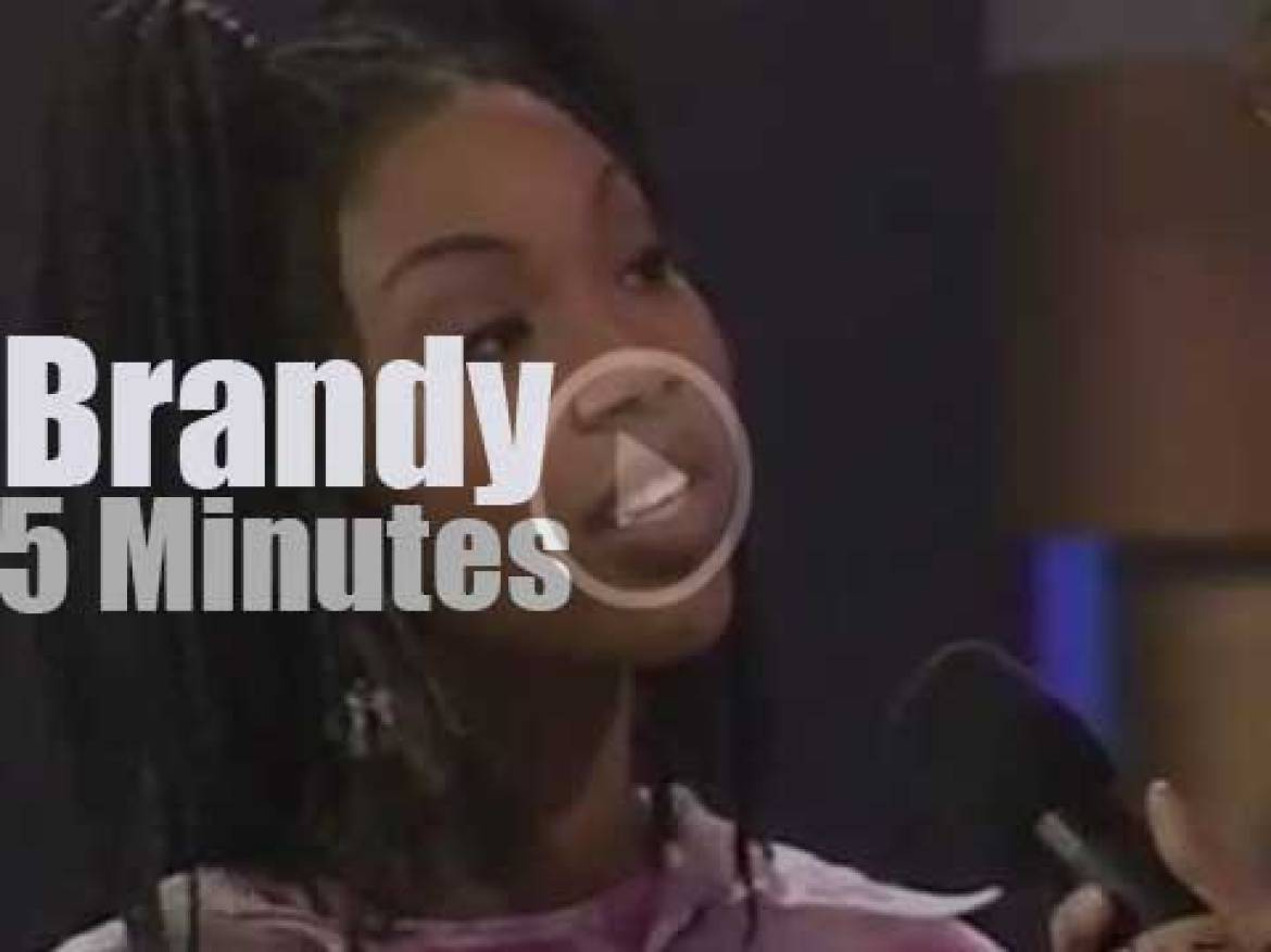 On TV today, Brandy at 'Soul Train' (1995)