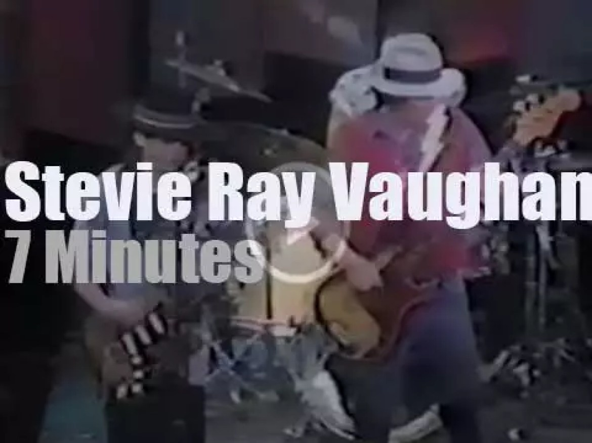 On TV today, Stevie Ray Vaughan at 'Rock of the 80's' (1983)