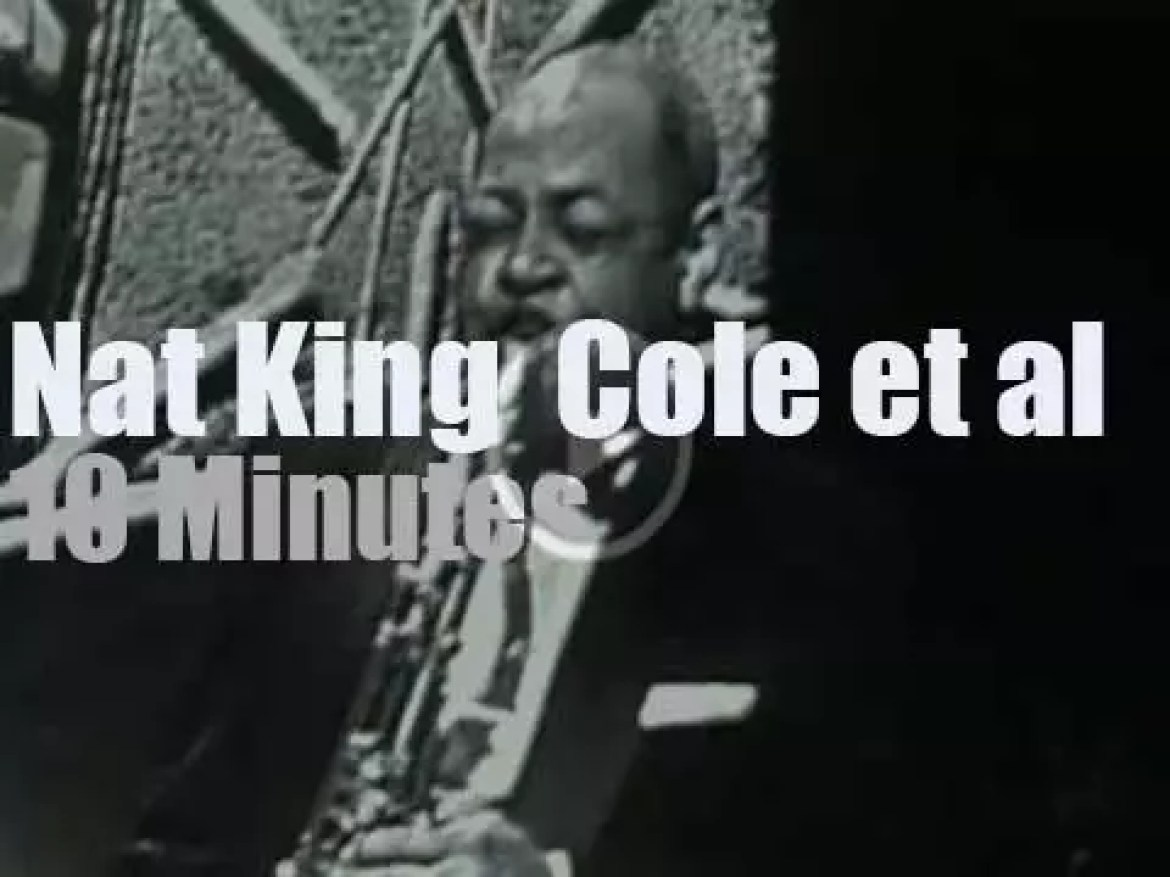 On TV today, Oscar Peterson, Stan Getz et al sit in with Nat King Cole (1957)