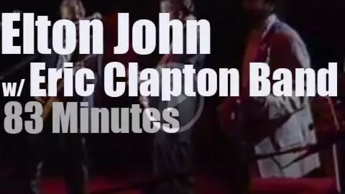 Elton John  sits in with Eric Clapton in Tokyo (1988)