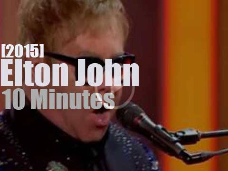 Elton John closes out the 'Royal Variety Show' (2015)