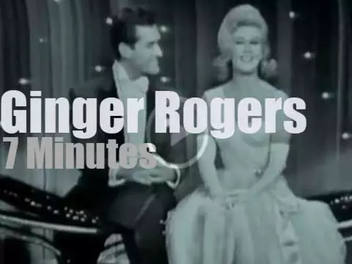 On TV today, Ginger Rogers at 'Hollywood Palace' (1964)