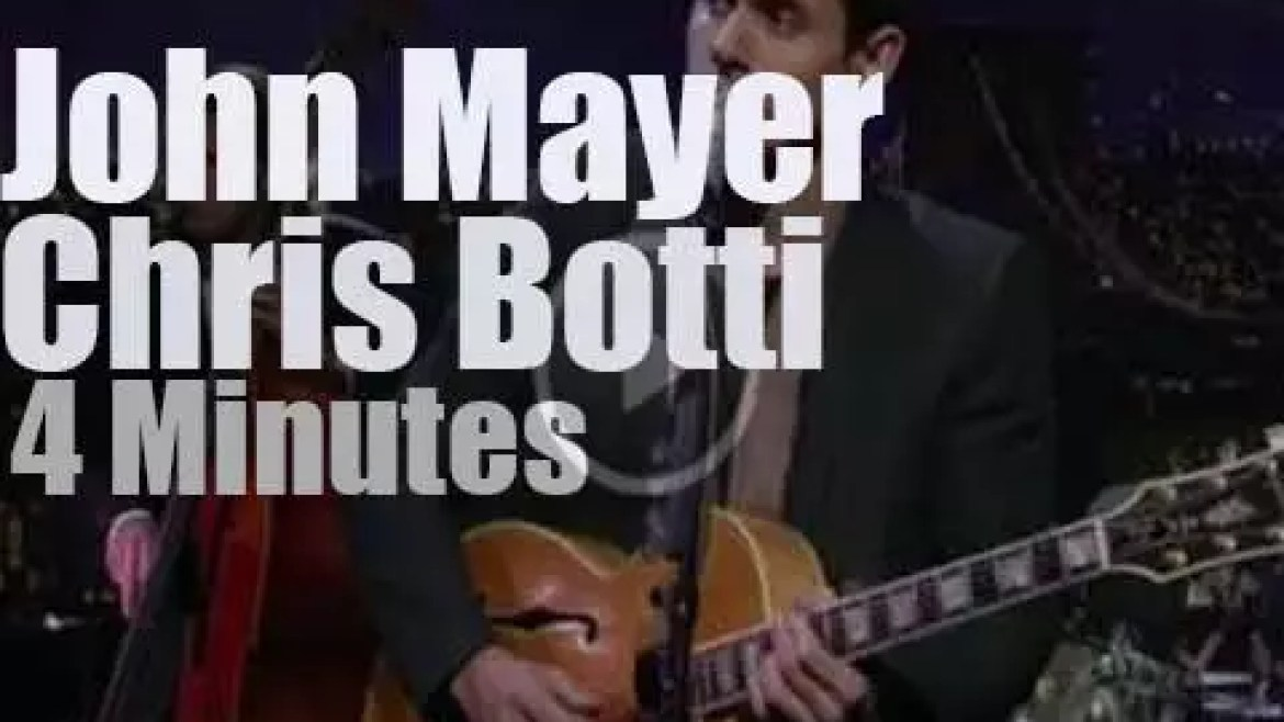 On TV today, John Mayer meets Chris Botti (2008)