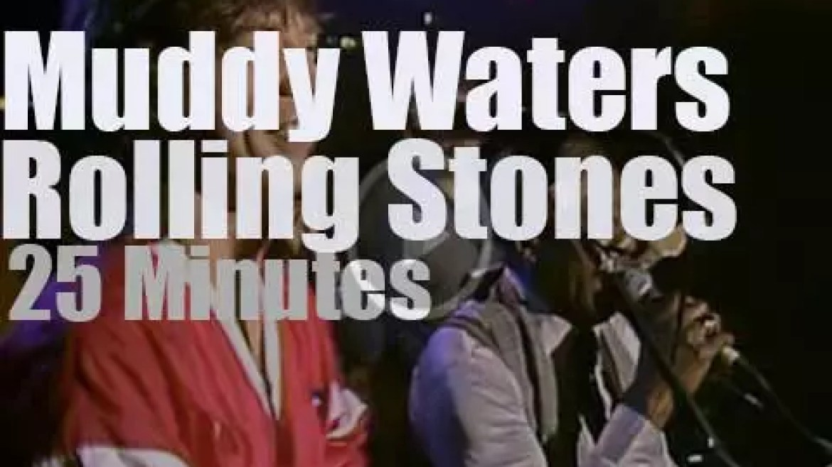 Muddy Waters plays then the Stones walk in (1981)