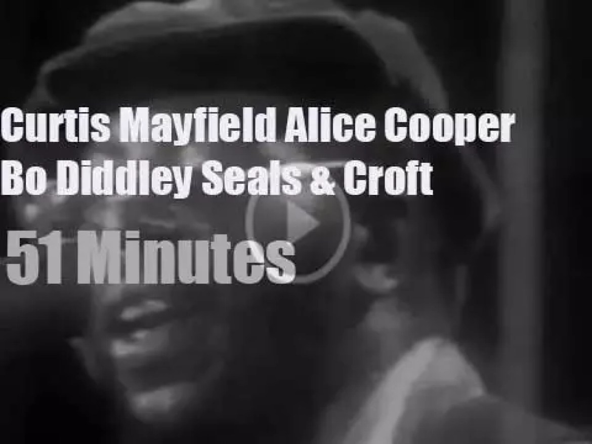On TV today, Curtis, Alice et al at 'In Concert'  (1972)