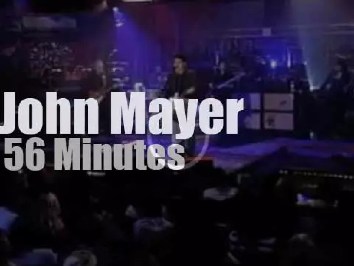 On TV today, John Mayer is 'Live on Letterman' (2009)