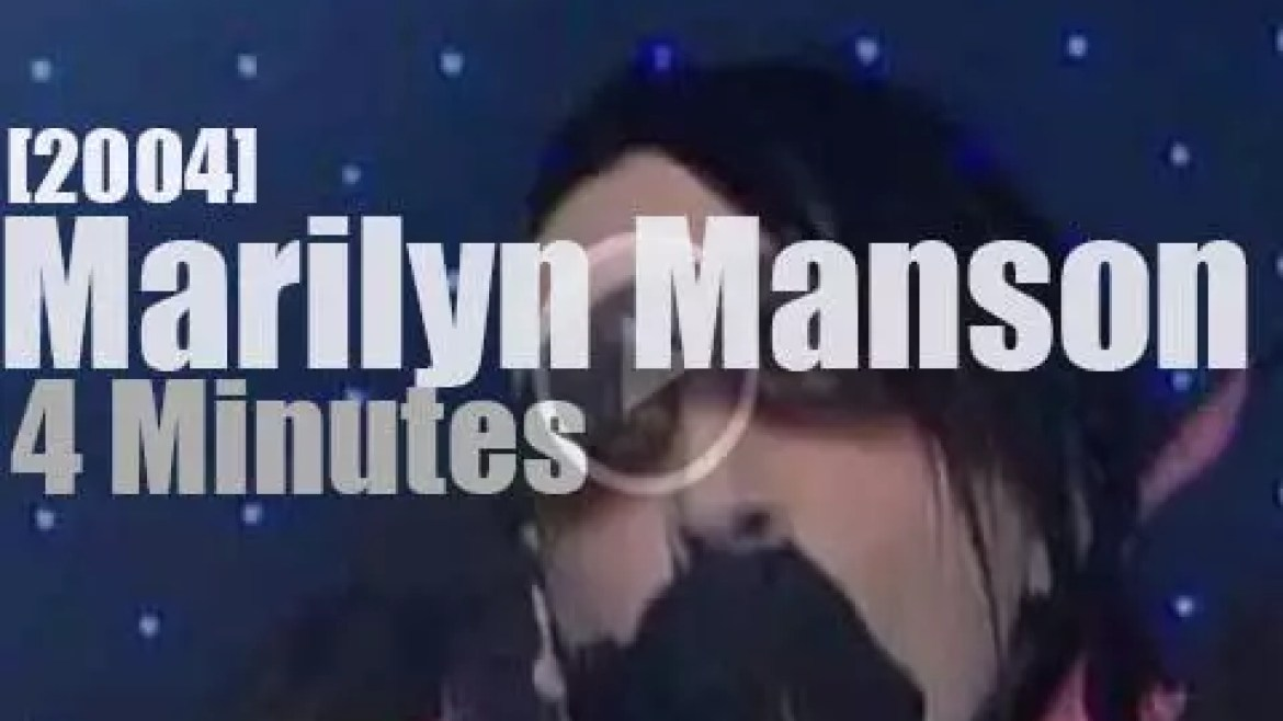 On TV today, Marilyn Manson with David Letterman (2004)