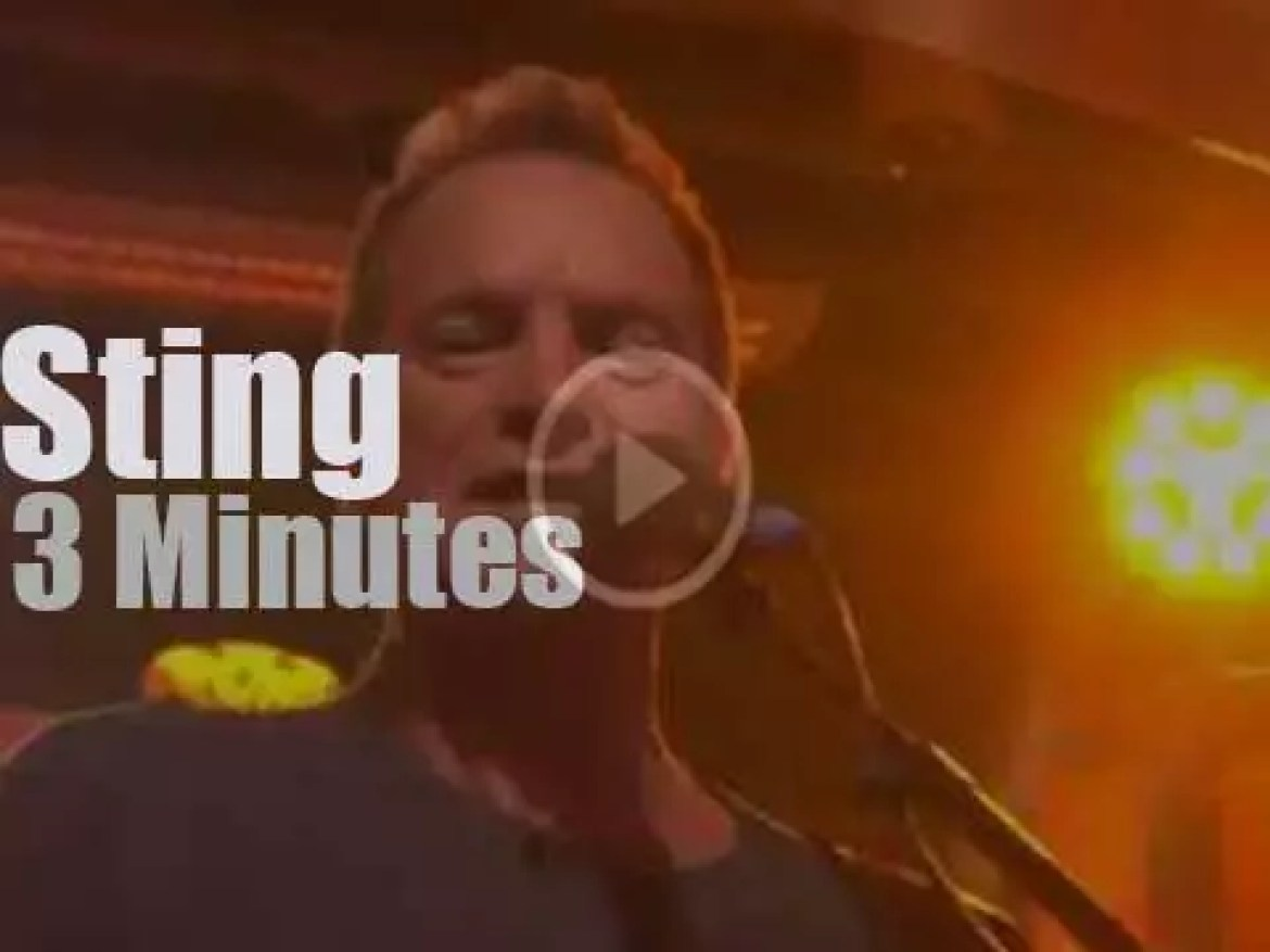 On TV today, Sting on 'BBC One Show' (2016)