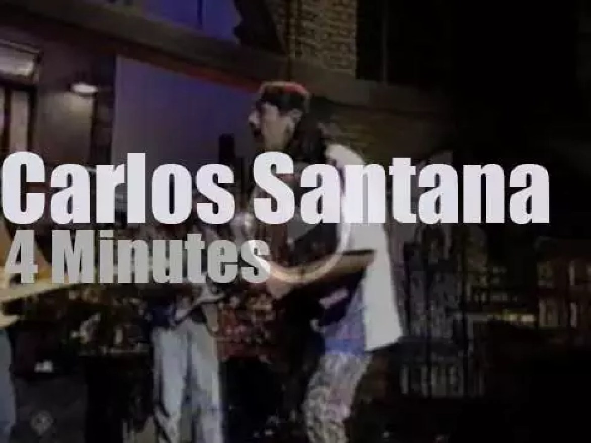 On TV today, the Santana Brothers with David Letterman (1994)