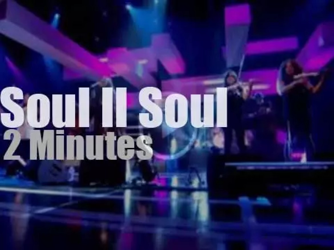 On TV today, Soul II Soul are 'Back To Life' (2012)