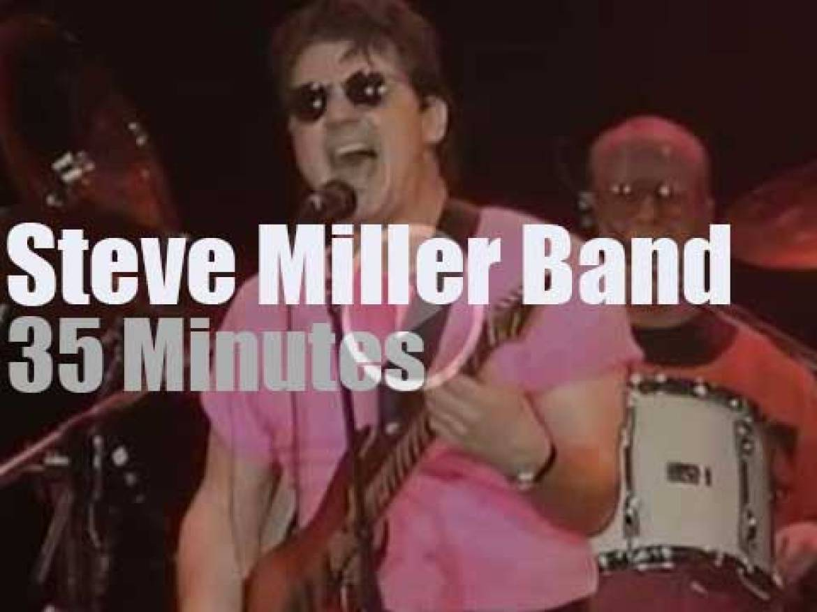 Steve Miller Band supports earthquake victims (1989)
