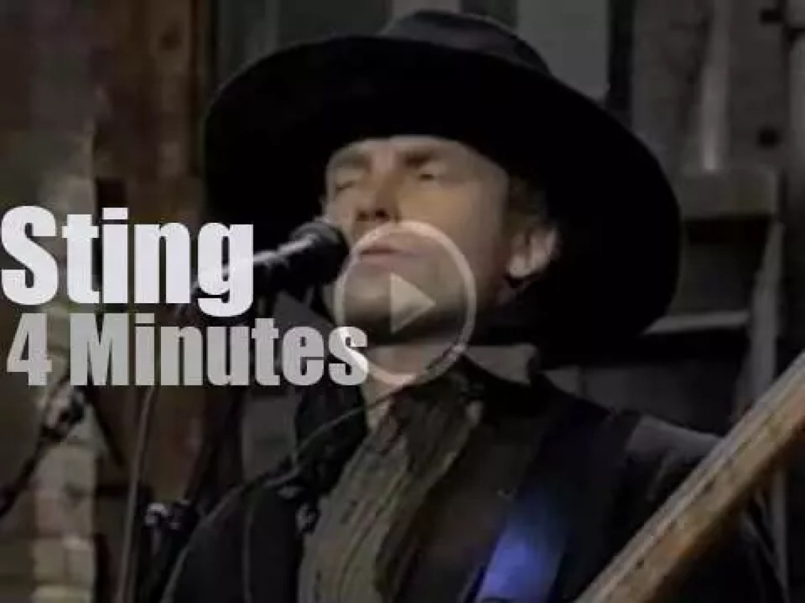 On TV today, Sting and his cow-boy hat (1994)