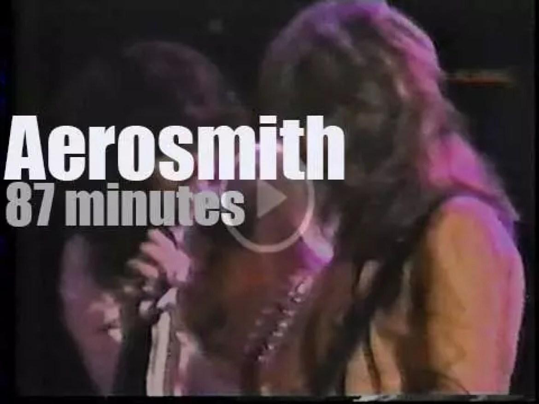 Aerosmith rock Maryland (1977)
