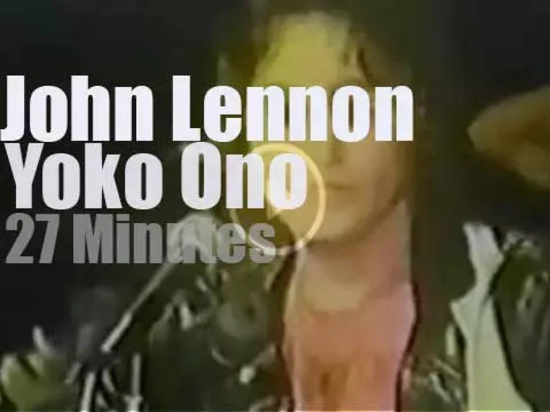 John Lennon & Yoko Ono support 'Freedom' (1971)