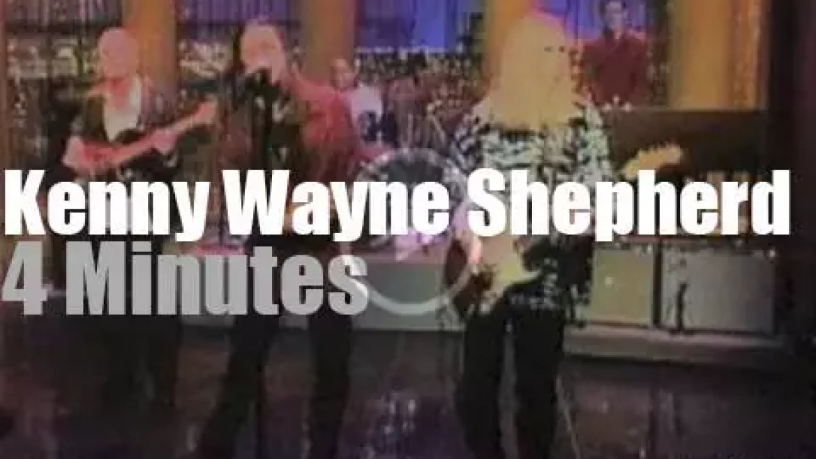 On TV today, Kenny Wayne Shepherd with Letterman (1997)