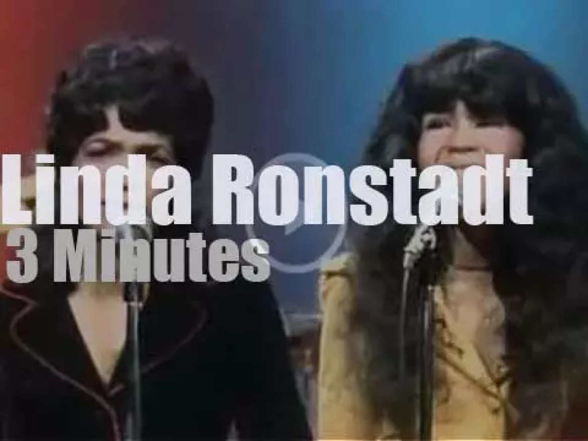 On TV today, Linda Ronstadt at 'Midnight Special' (1973)