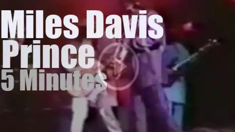 Miles Davis  joins Prince (1987)