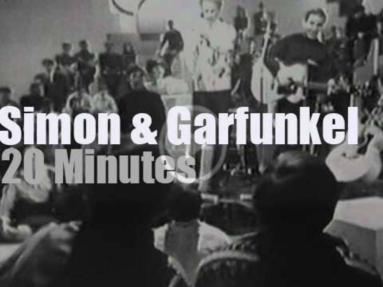 On TV today, Simon & Garfunkel at 'Kraft Music Hall' (1968)