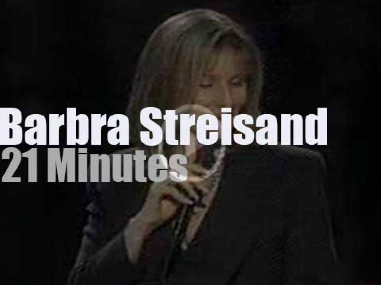 Barbra Streisand sings at Clinton Inaugural Gala (1993)