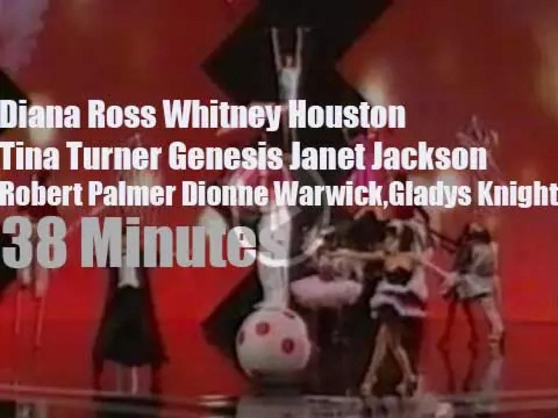 Diana, Tina, Janet et al at the 'American Music Awards' (1987)