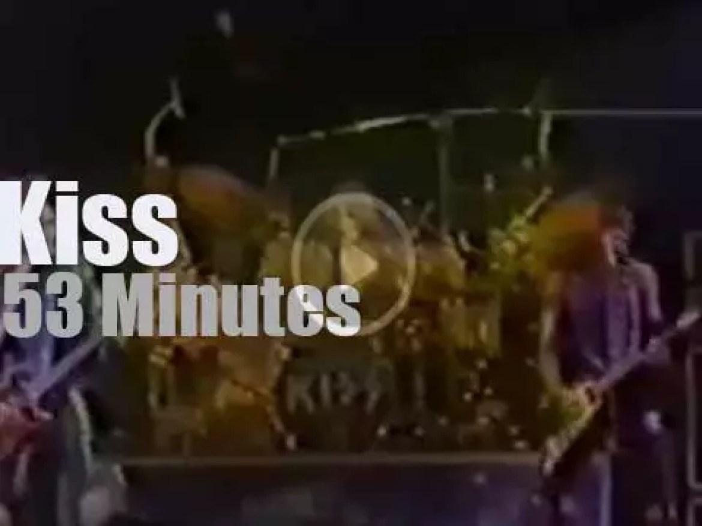Kiss spend three nights in Detroit (1976)