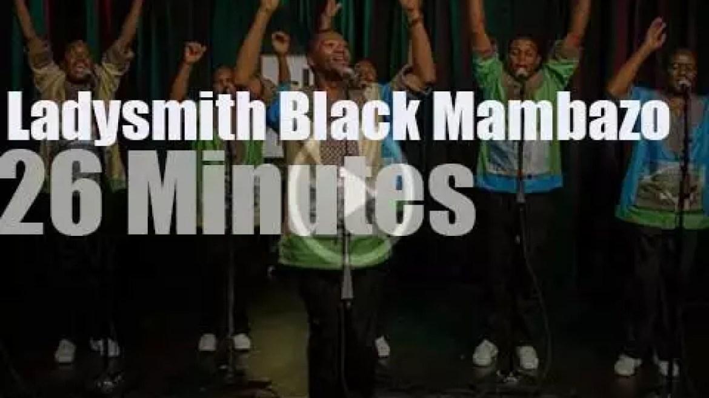 On radio today, Ladysmith Black Mambazo in Seattle (2016)