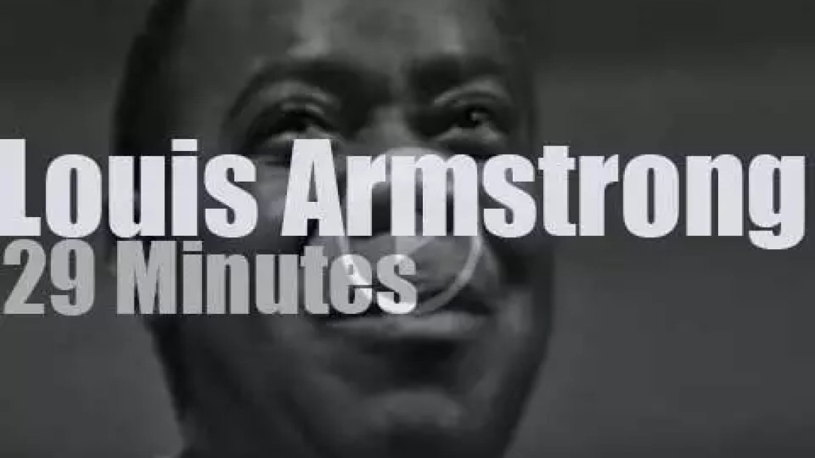 On TV today, Louis Armstrong at 'Jazz Casual' (1963)