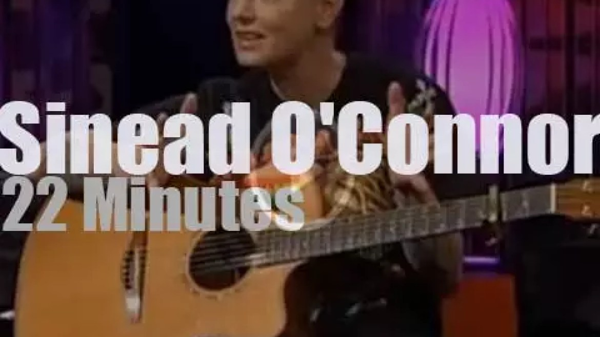 On TV today, Sinead O'Connor at Irish 'SatNightShow' (2013)