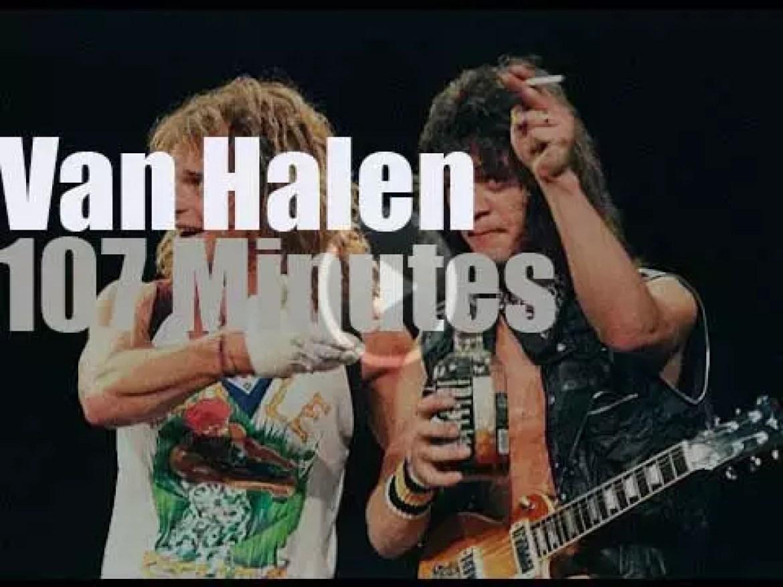 Van Halen rock in São Paulo (1983)