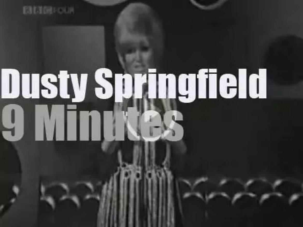 On TV today,  Dusty Springfield on BBC (1969)