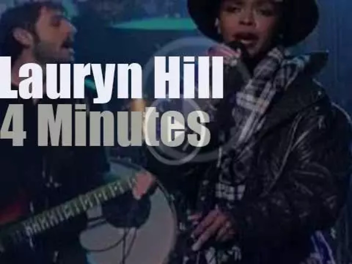 On TV today, Ms. Lauryn Hill with David Letterman (2014)