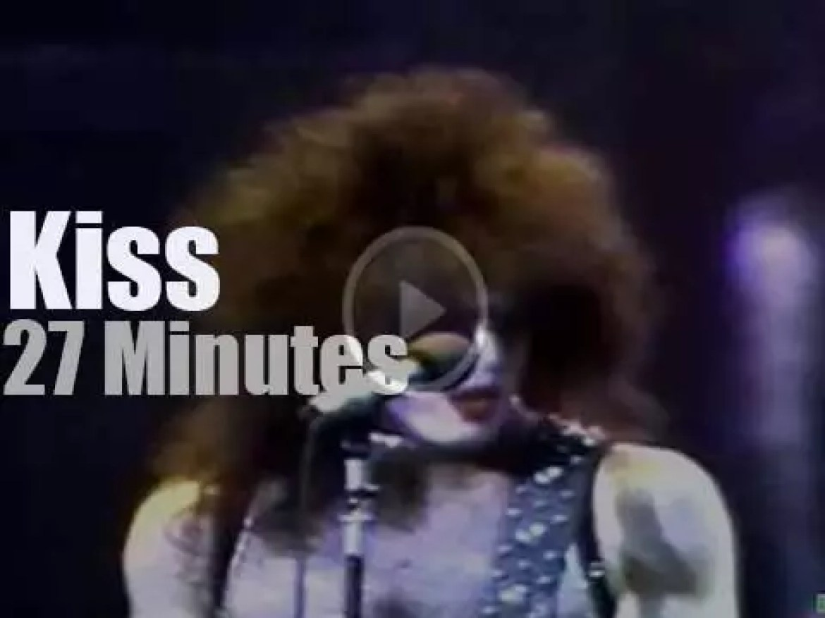 Kiss rock the Garden for the first time (1977)