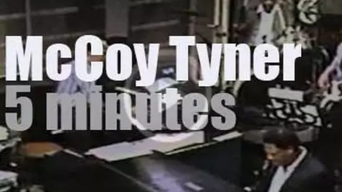 On TV today, McCoy Tyner with David Letterman (1985)