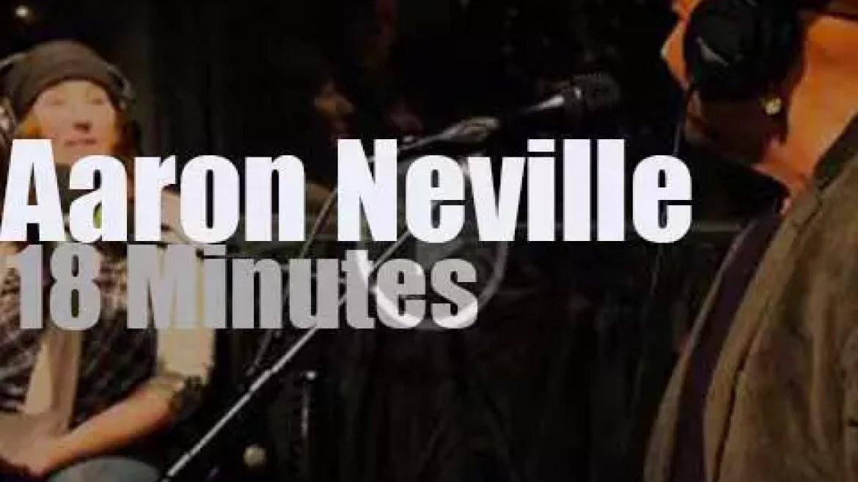 On TV today, Aaron Neville on KEXP (2013)