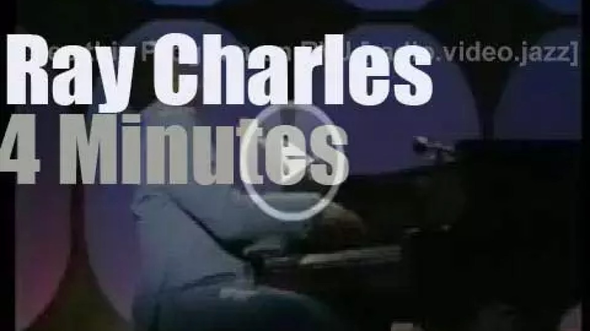 On TV today, Ray Charles with Johnny Cash (1970)