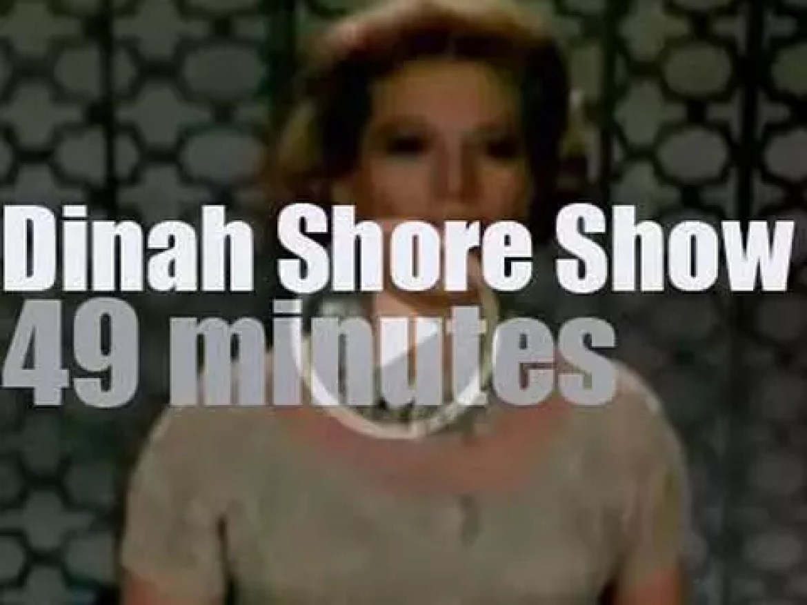On TV today, watch 'The Dinah Shore Chevy Show' with Benny Goodman on NBC (1960)