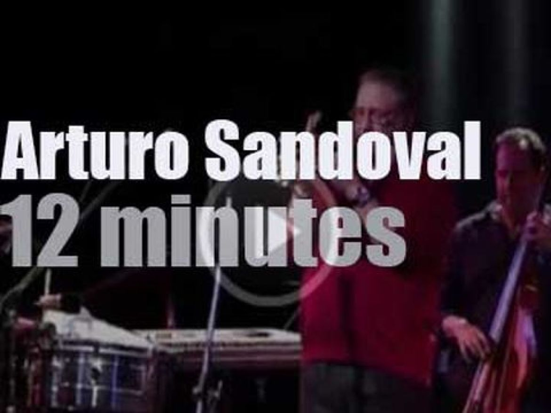 Arturo Sandoval plays at Blue Note Milano (2016)