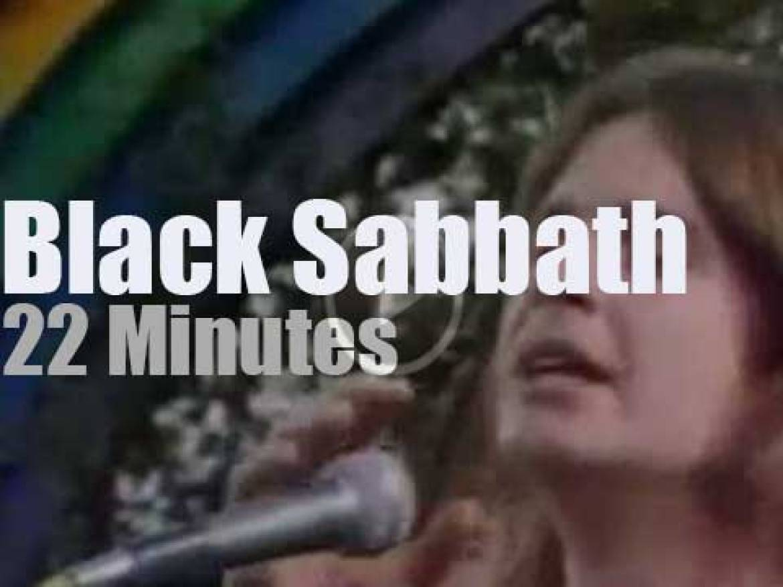 Black Sabbath attend a Californian festival (1974)