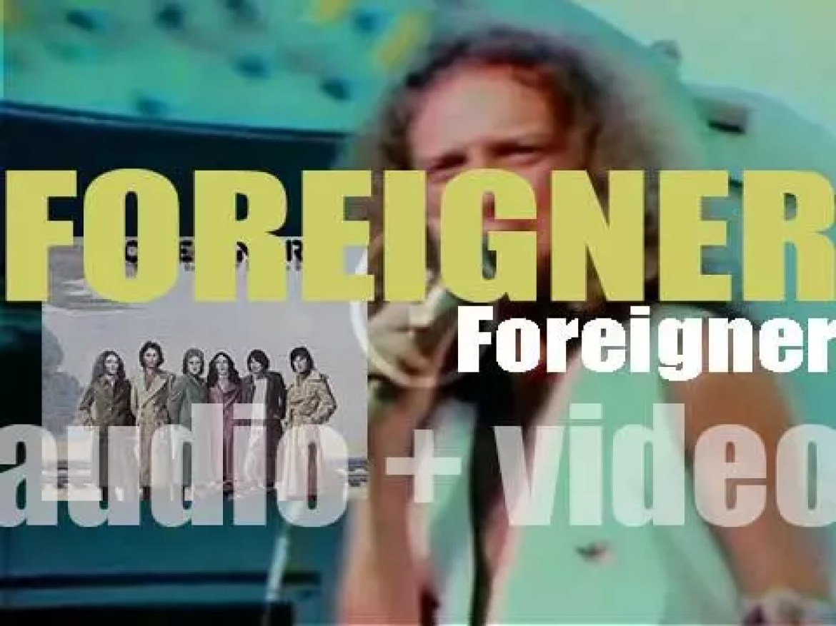 Foreigner release their first eponymous album featuring 'Cold as Ice' (1977)