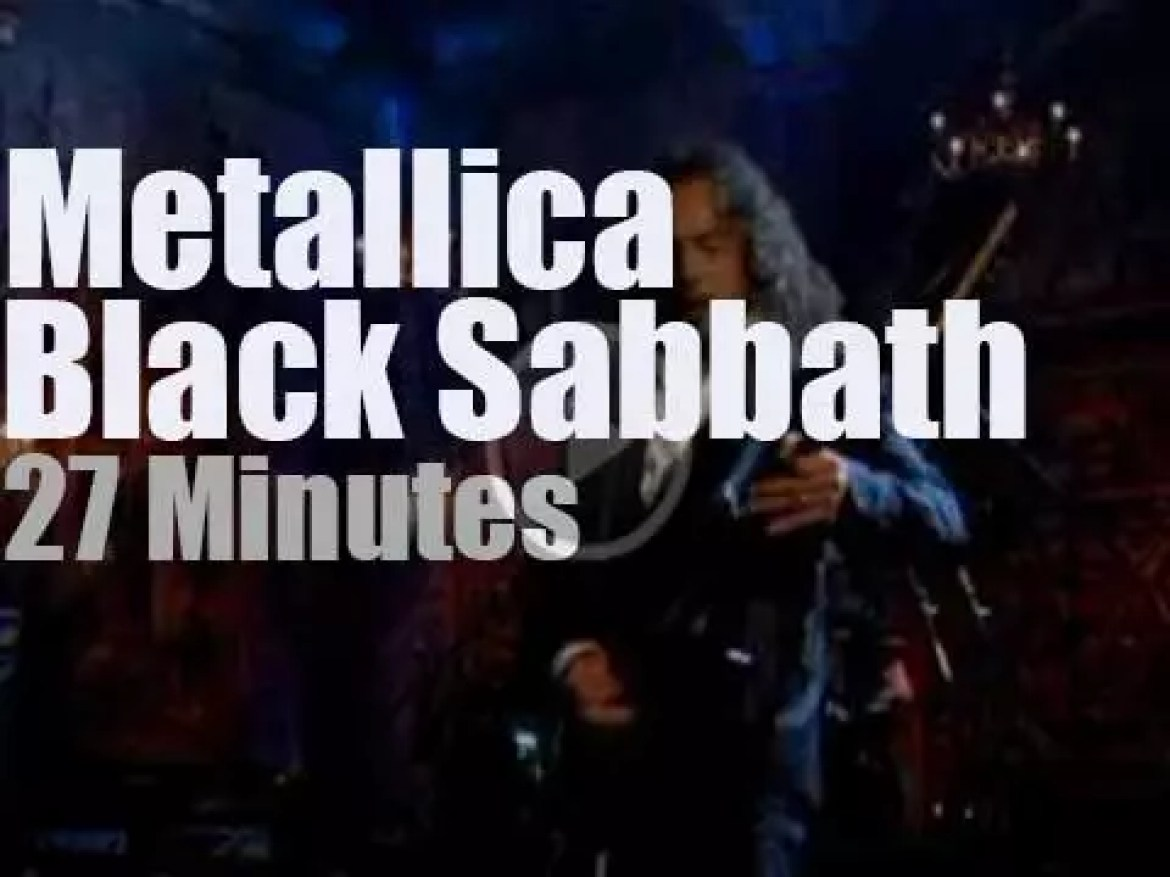 Metallica inducts Black Sabbath at the Rock & Roll Hall of Fame (2006)