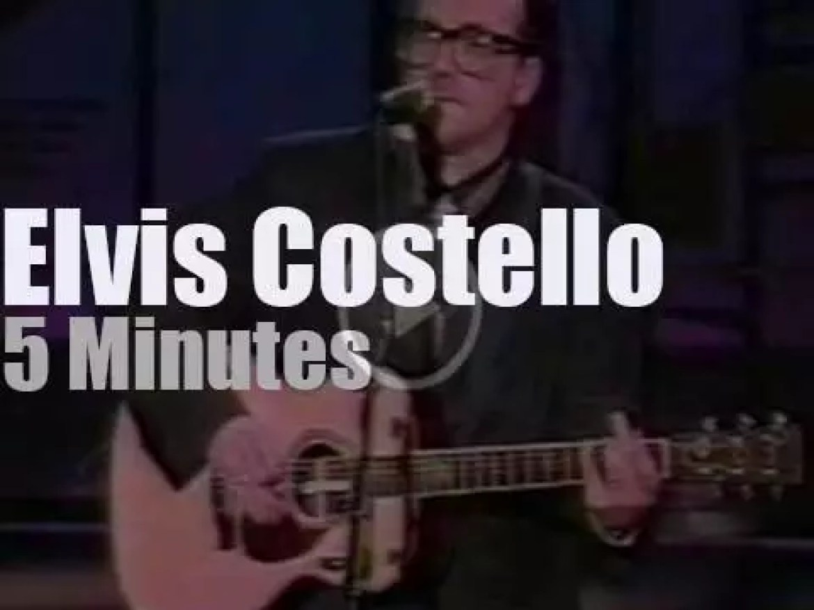 On TV today, Elvis Costello performs at 'Late Show With David Letterman' (1989)