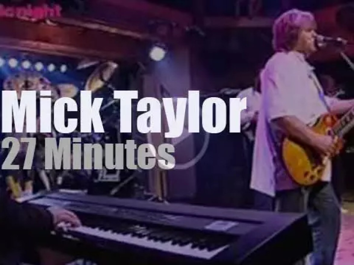 Swiss TV tapes Mick Taylor & band  'Live in Bern' (2009)